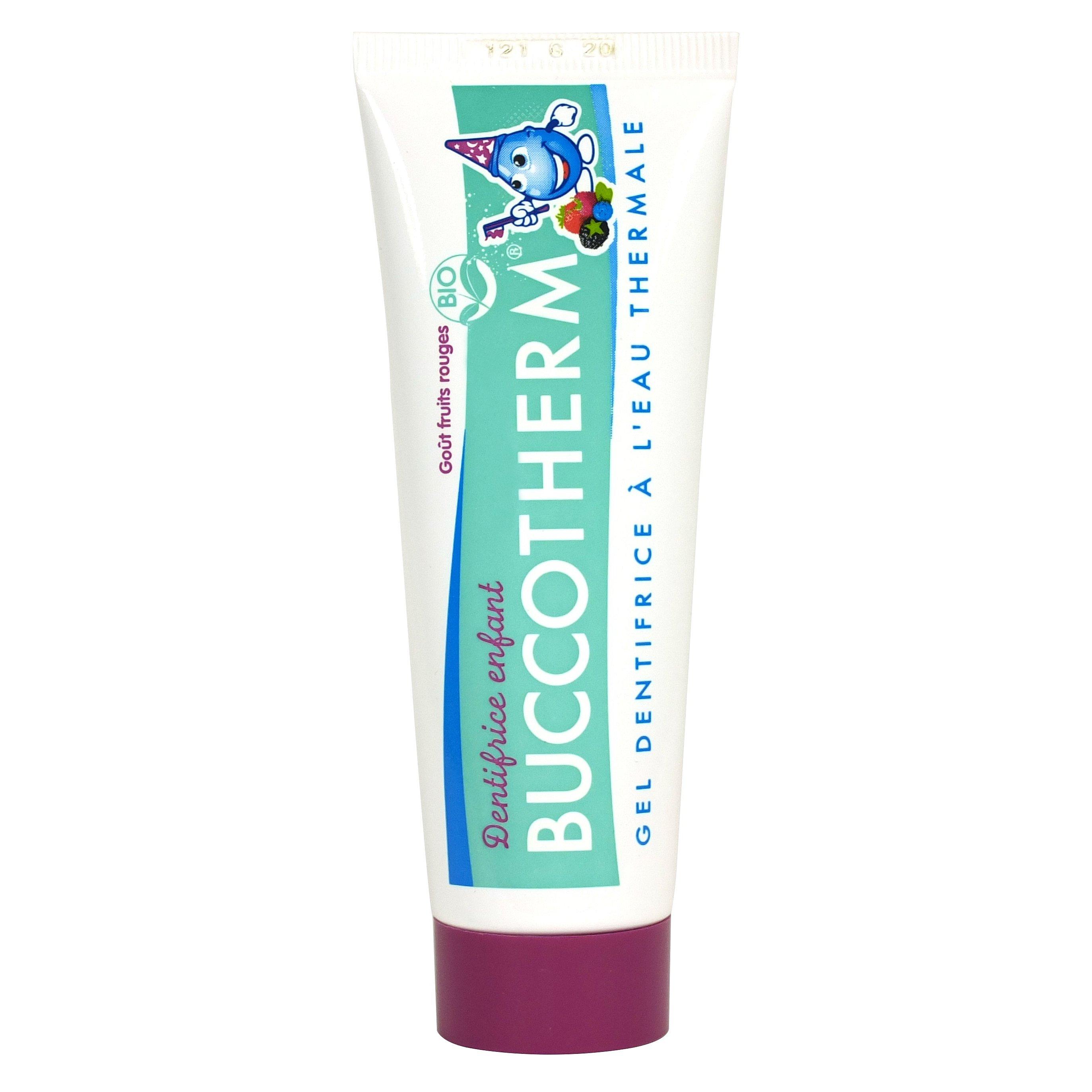 Buccotherm BIO dětská zubní pasta bez fluoridů Lesní ovoce 50ml