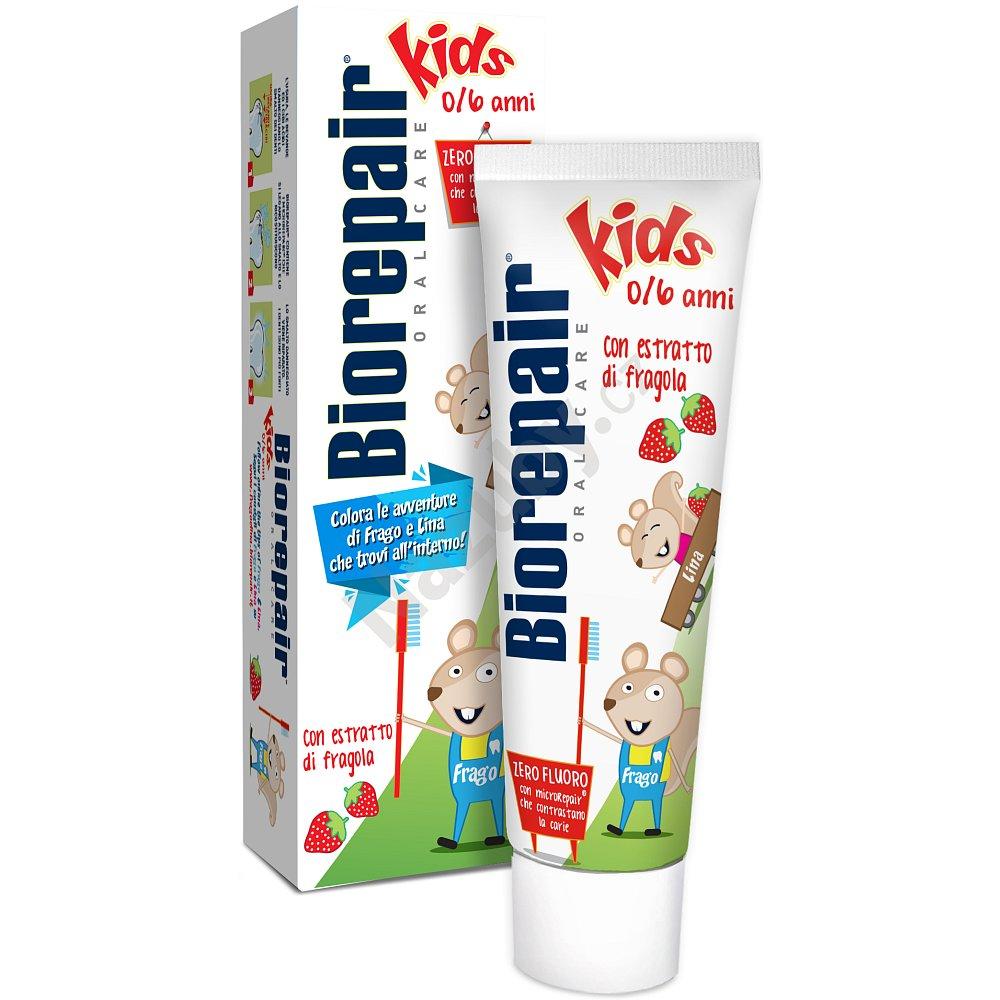 BioRepair Junior - jahodová pasta pro děti bez fluoridů 50 ml