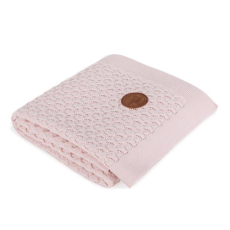 CEBA Deka pletená v dárkovém balení 90x 90 růžové vlny