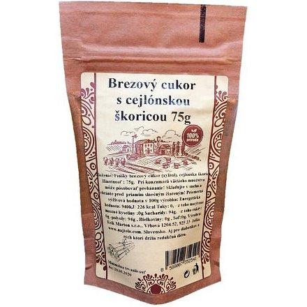 Skořicový březový cukr s cejlonský skořicí 75g