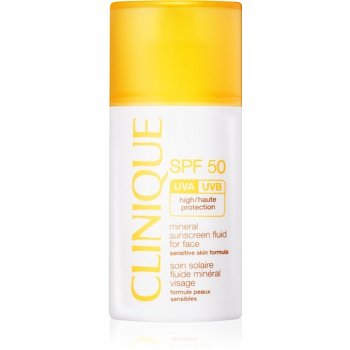 Clinique Sun minerální opalovací fluid na obličej SPF 50  30 ml