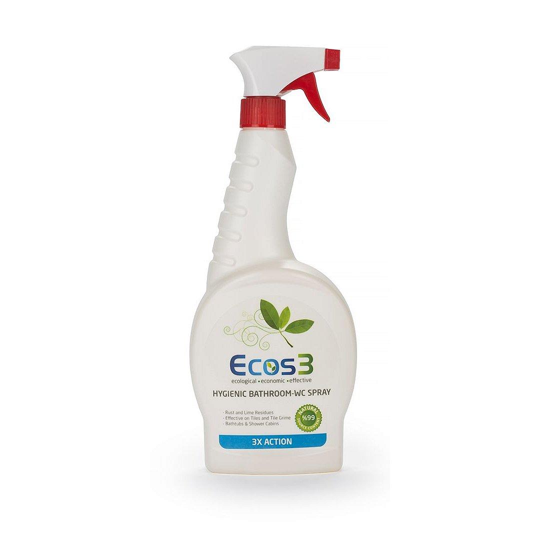 ECOS 3 Hygienický čistič koupelen a WC spray 750 ml