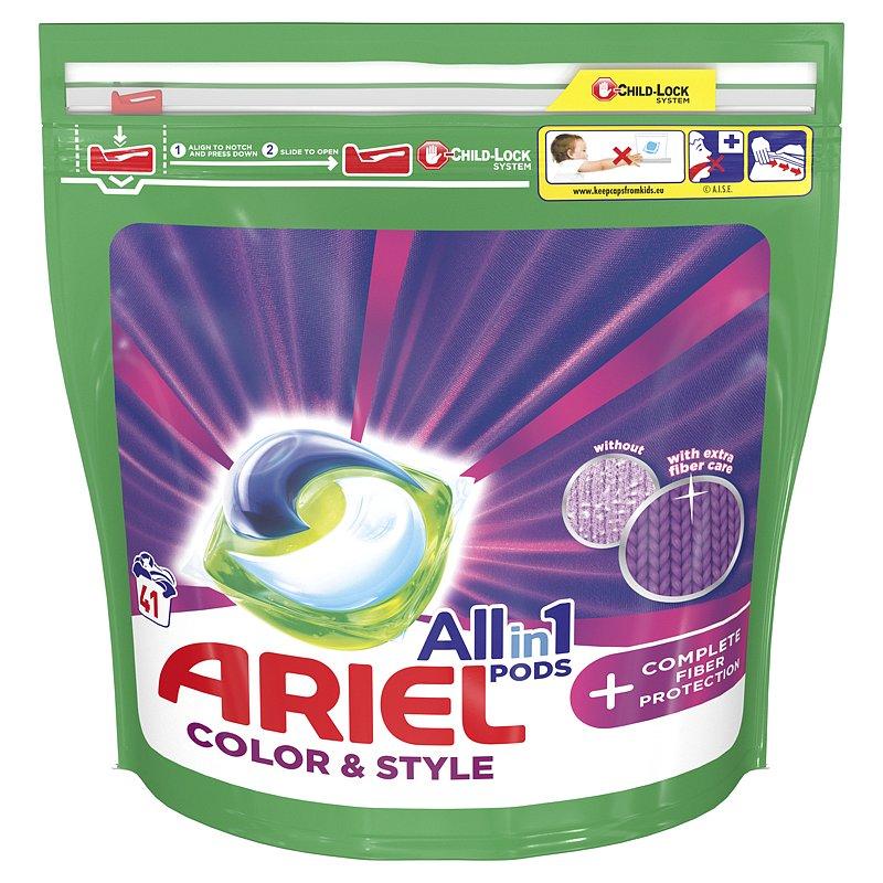 ARIEL All-In-1 PODs + Kapsle na praní technologie ochrany vláken Kapsle, 41 praní