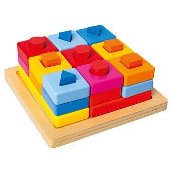 BINO Vkládací tvary na desce barevné