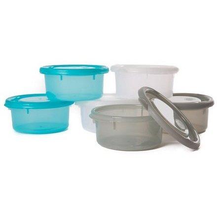 Bo Jungle misky s víčky Bowls Blue/White/Grey 300ml (6ks)