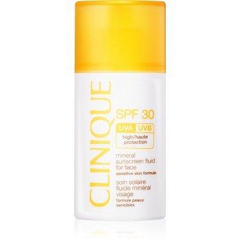 Clinique Sun minerální opalovací fluid na obličej SPF 30  30 ml