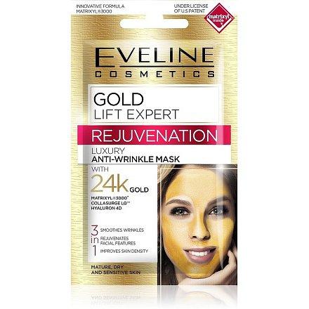 EVELINE Gold Lift Expert pleťová maska 3v1 7ml
