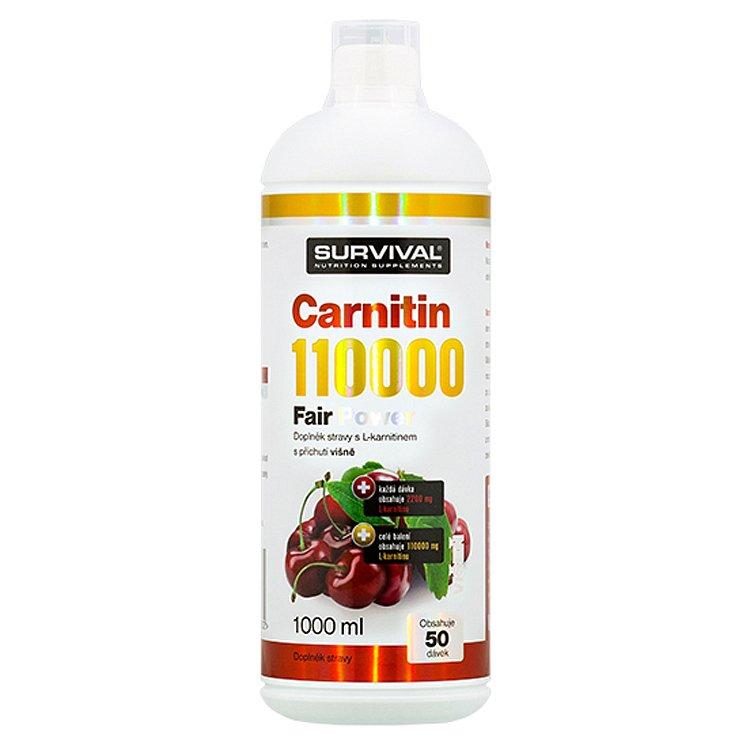 Carnitin 110000 Fair Power višeň 1000ml
