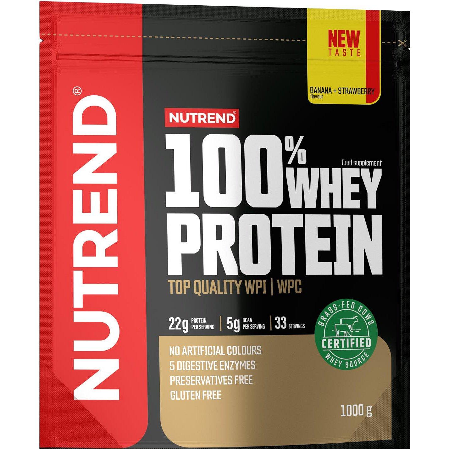 Nutrend 100% Whey Protein jahoda/banán 1000g