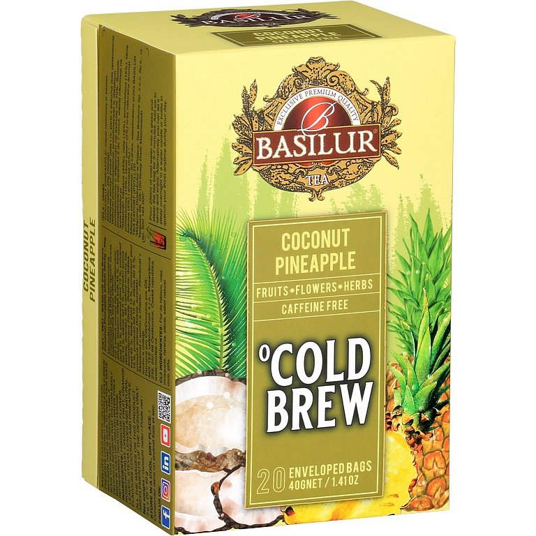 BASILUR Cold Brew Coconut Pineapple 20x2g