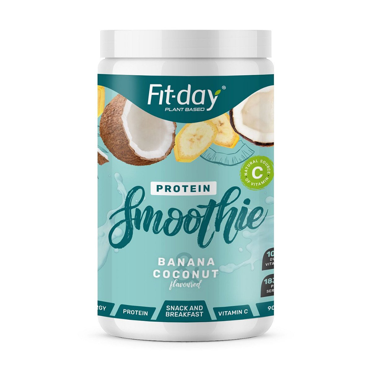 Fit-day Protein Smoothie banán a kokos 900 g