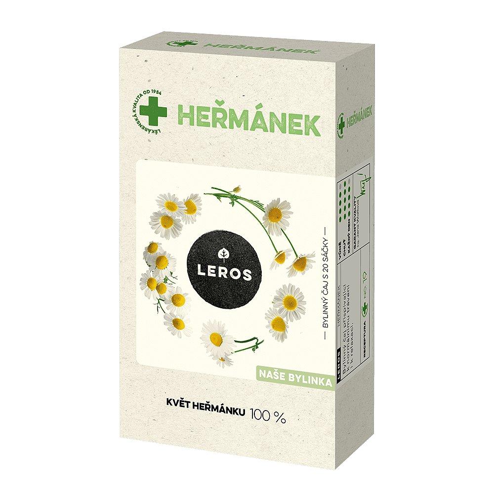 LEROS Heřmánek bylinný čaj 20 sáčků