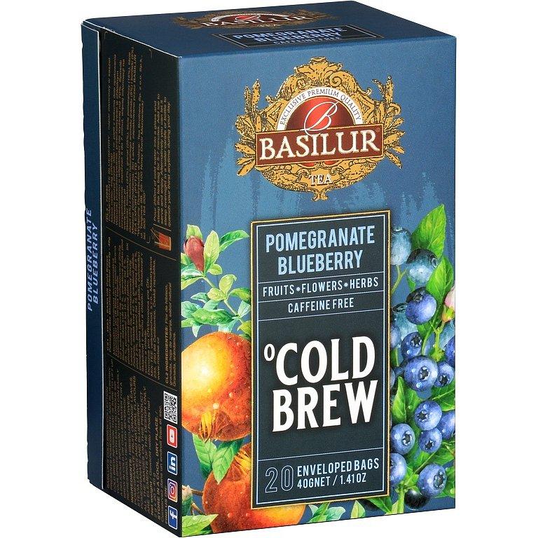 BASILUR Cold Brew Pomegranate Blueberry 20x2g