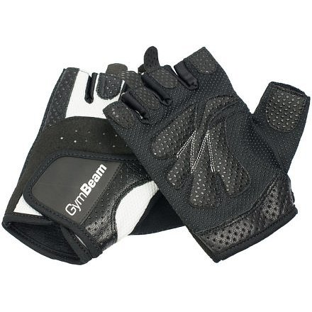 Fitness Dámské rukavice Bella – GymBeam unflavored white black – velikost S