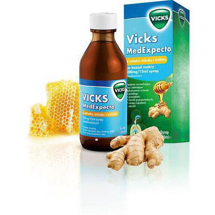 MedExpecto Vicks sirup med+zázvor 180ml/2400mg