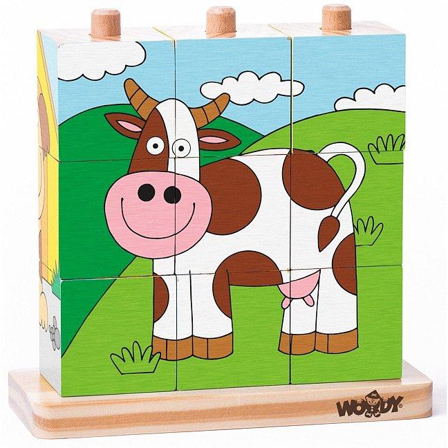 Woody 93055 Kubus navlékací domácí zvířata