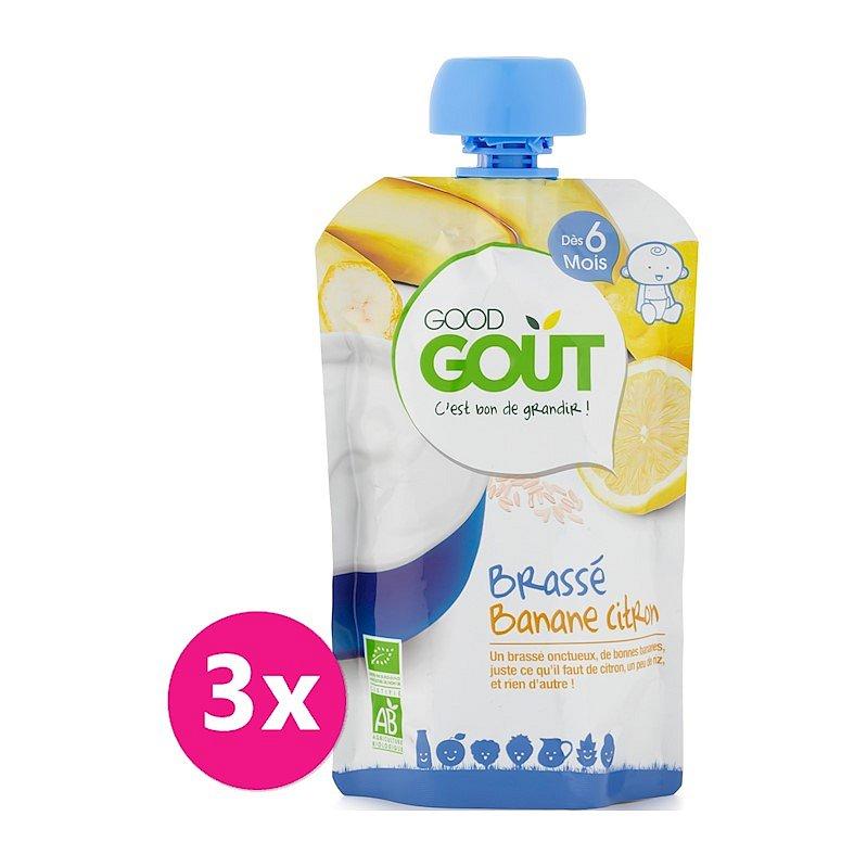 3x GOOD GOUT Banánový jogurt s citrónem 90 g