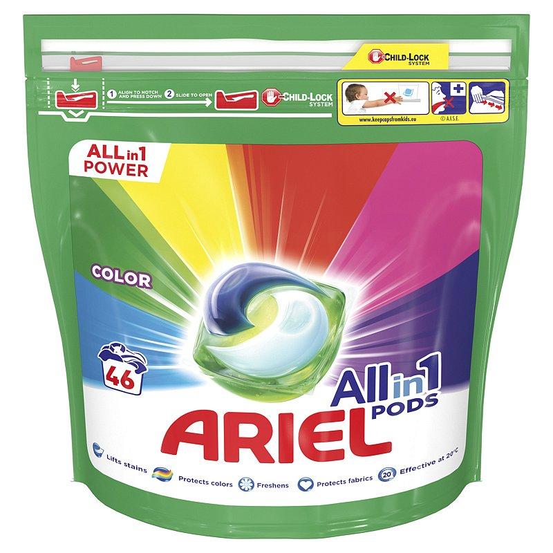 ARIEL All-In-1 PODs Kapsle na praní Colour, 46 praní