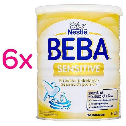NESTLÉ BEBA Sensitive, speciální kojenecké mléko 6x800g