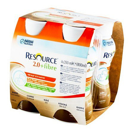 Resource 2.0 kcal Fibre Kávový perorální roztok 4 x 200 ml