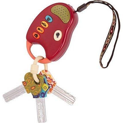 B-Toys Klíčky k autu FunKeys červená