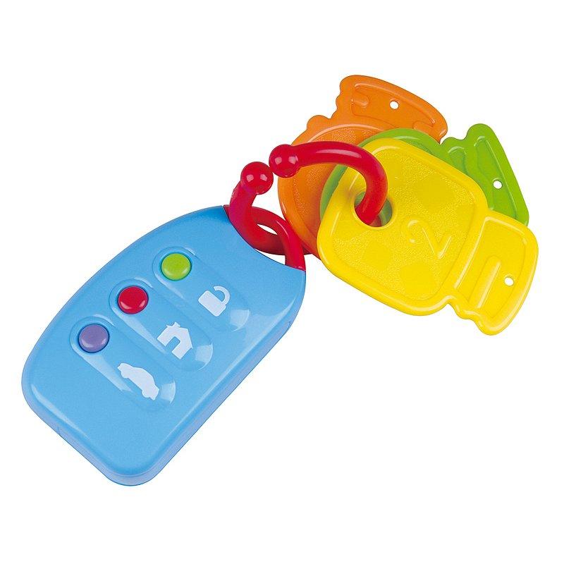 Teddies Klíče dálkové ovládání plast na baterie se zvukem na kartě