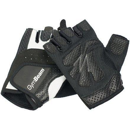 Fitness Dámské rukavice Bella - GymBeam unflavored white black – velikost M