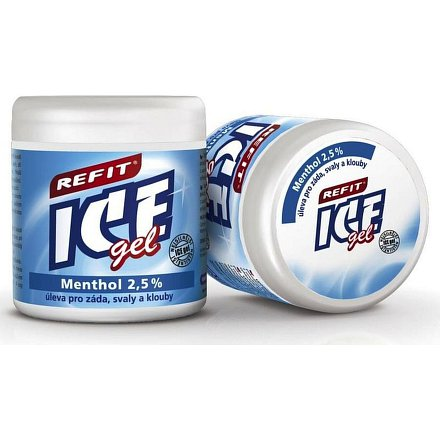 Refit Ice gel s mentholem 2.5% 500ml modrý