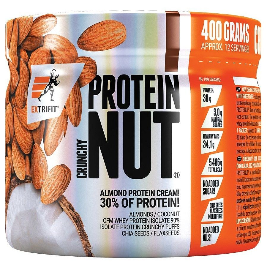 Proteinut Crunchy 400 g double chocolate, Extrifit