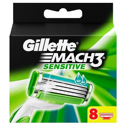 Gillette Mach 3 Sensitive náhradní hlavice 8 ks