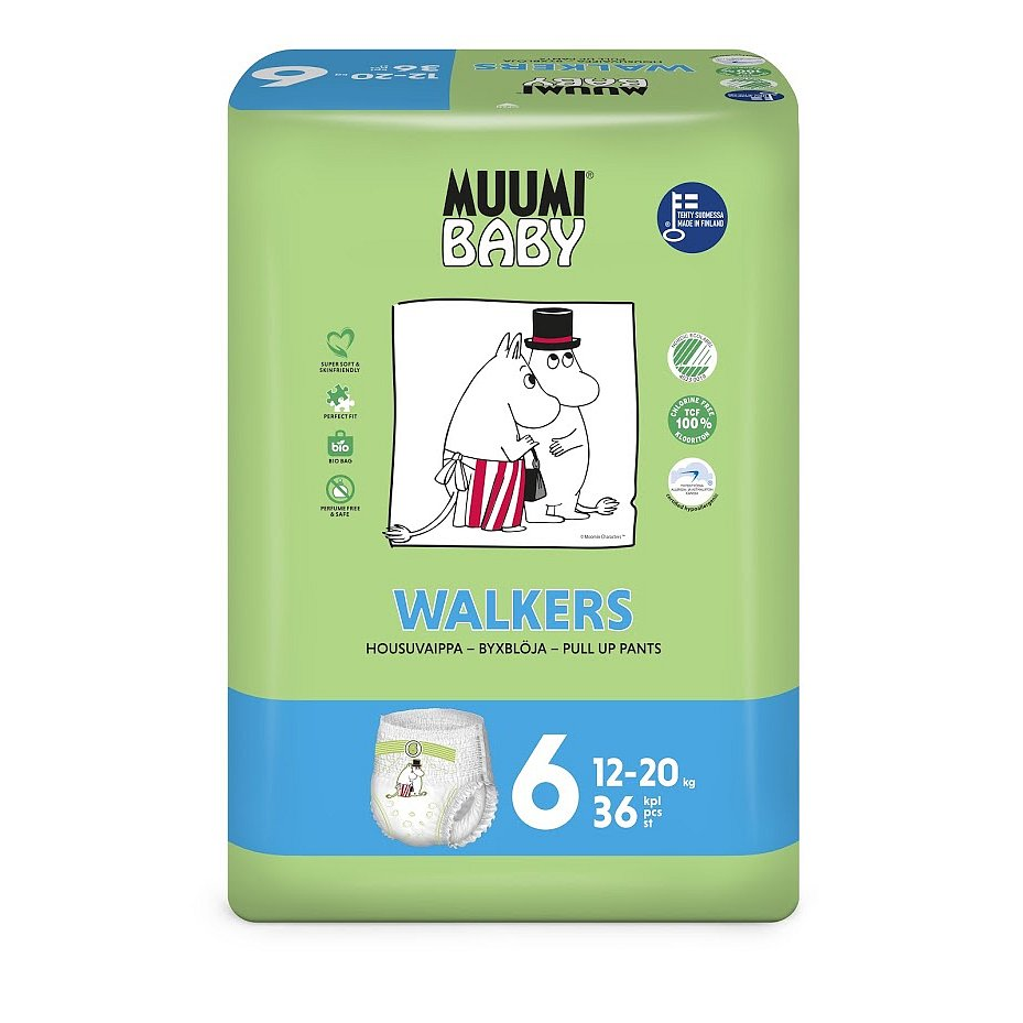 MUUMI Walkers Junior 36 ks (12-20 kg) – jednorázové pleny