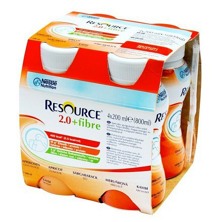 Resource 2.0 kcal Fibre Meruňkový perorální roztok 4 x 200 ml
