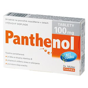 Panthenol tablety 100 mg tablety 24