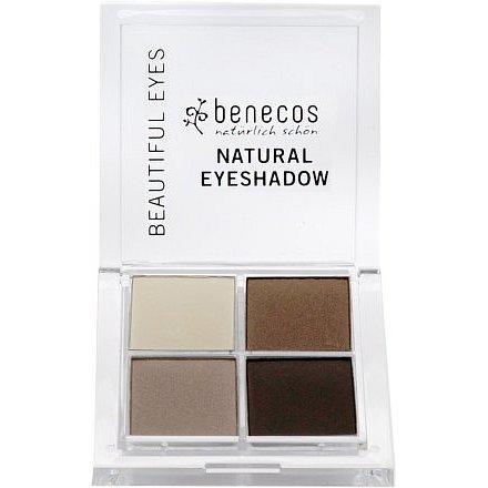 Benecos oční stíny 4 barvy Coffee&Cream BIO VEG 8g