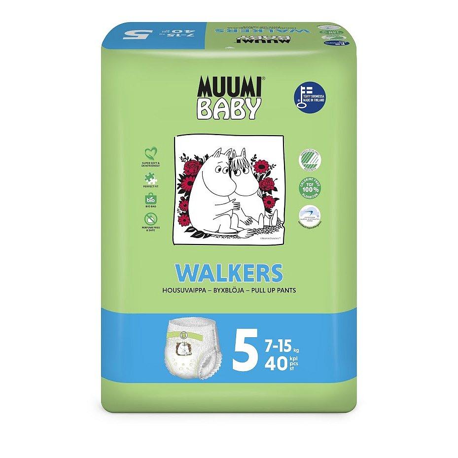 MUUMI Walkers Maxi+ 40 ks (7-15 kg) – jednorázové pleny