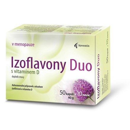 Izoflavony Duo s vitamínem D orální tobolky 50 + 10 navíc