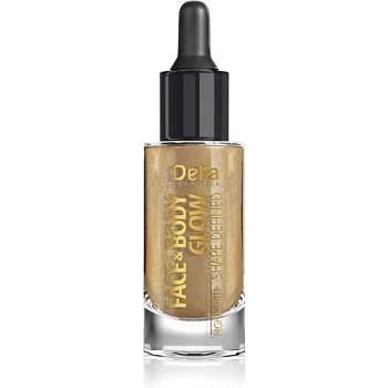 Delia Cosmetics Face & Body Glow Shape Defined tekutý rozjasňovač s kapátkem 15 ml
