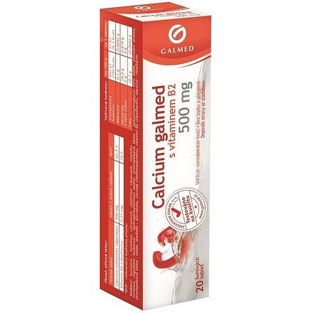 Galmed Calcium 500mg 20 šumivých tablet