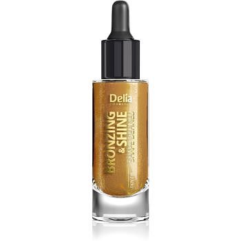 Delia Cosmetics Bronzing & Shine Shape Defined třpytivý suchý olej na obličej a tělo 20 ml