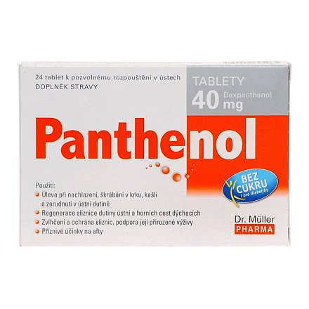 Panthenol tablety 40 mg tablety 24