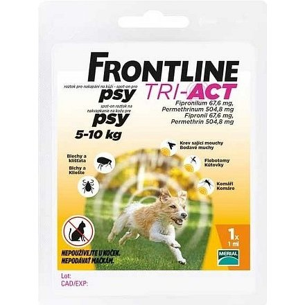 Frontline Tri-Act psi 5-10kg spot-on 1x1 pipeta