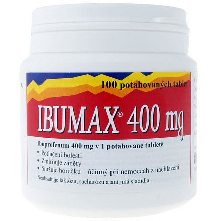 Ibumax 400 tablety 100ks