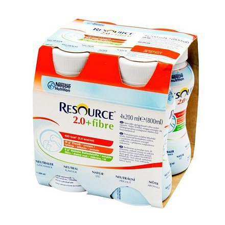 Resource 2.0 kcal Fibre Neutrální perorální roztok 4 x 200 ml