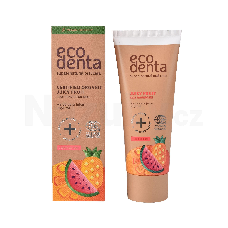 Ecodenta Zubní pasta pro děti s příchutí šťavnatého ovoce Juicy Fruit (Kids Toothpaste) 75 ml