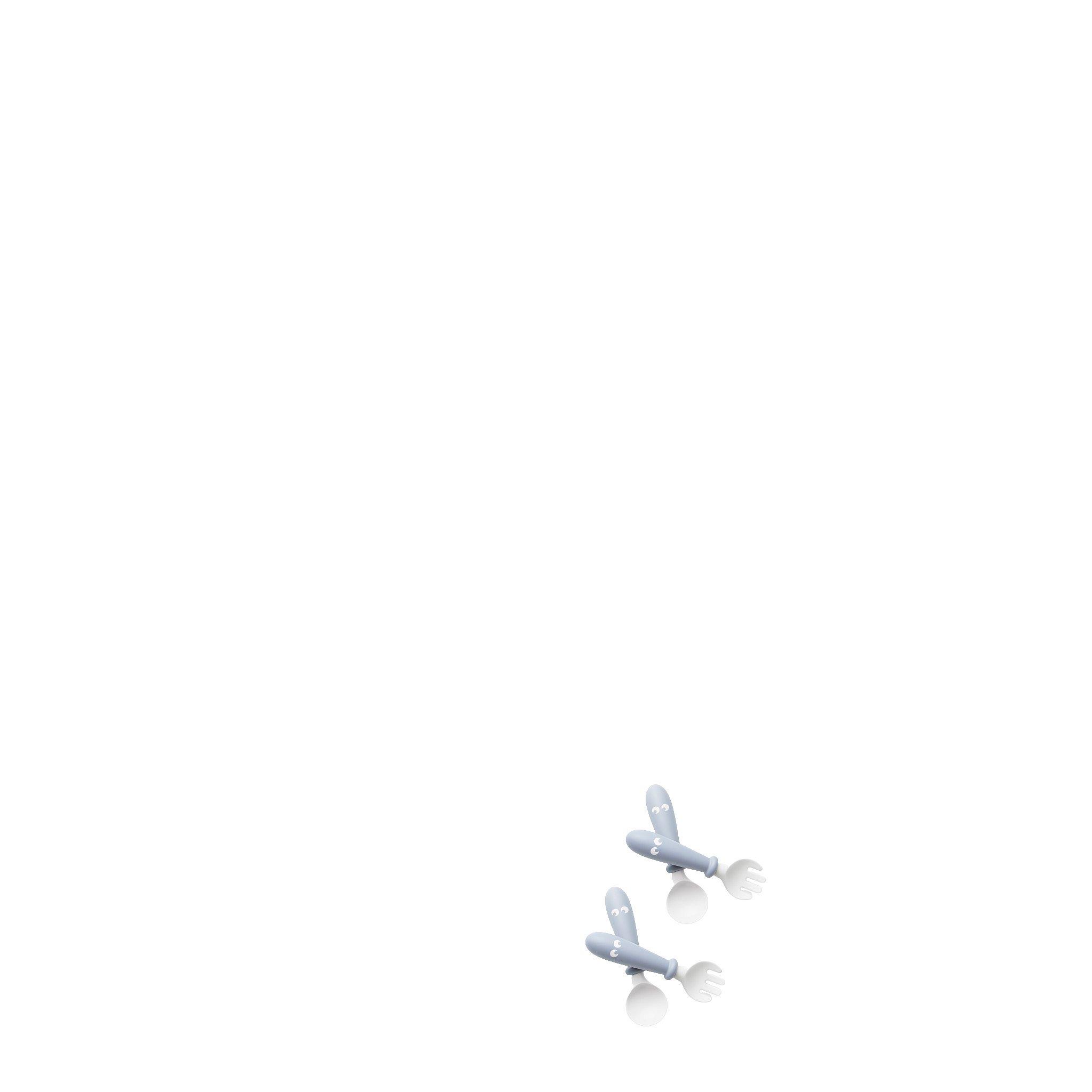 BabyBjörn příborový set pudrově modrý 2ks