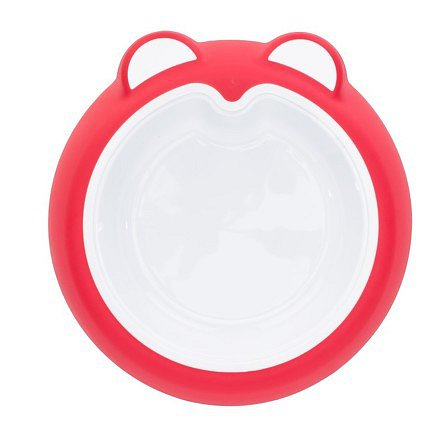Badabulle talíř ANTI-SLIP Intense Pink