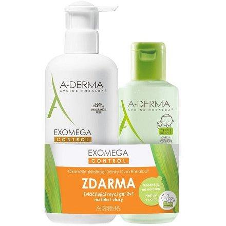 A-DERMA Exomega Control Mléko 400ml + Gel 2v1 200ml ZDARMA