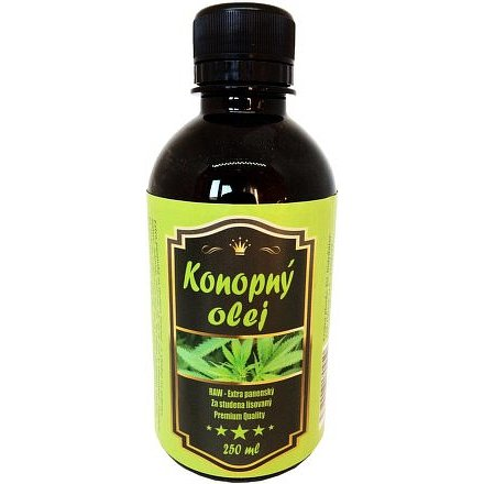 Konopný olej extra panenský 250ml pet