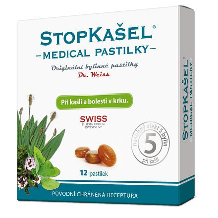 STOPKAŠEL Medical pastilky Dr.Weiss 12 pastilek