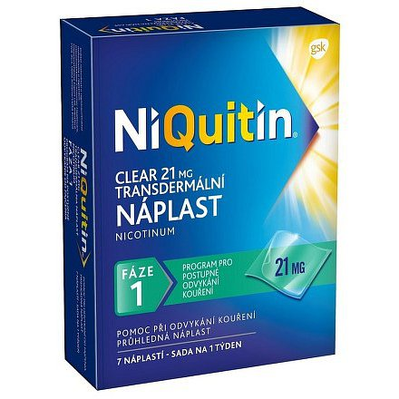 NiQuitin Clear náplast 21 mg 7 ks